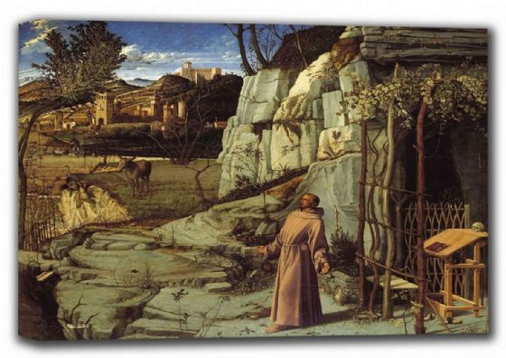 Bellini, Giovanni: St. Francis of Assisi in the Desert. Fine Art Canvas. Sizes: A4/A3/A2/A1 (001865)